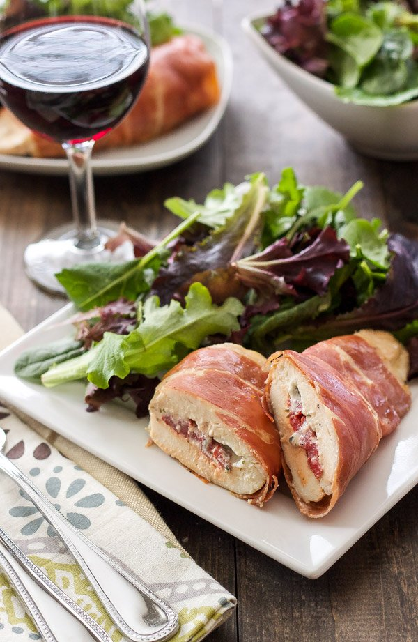 Prosciutto Wrapped Chicken Stuffed with Goat Cheese | An easy and elegant dinner that is sure to impress everyone! | @reciperunner