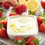 Skinny Lemon Cheesecake Dip | Lightened up lemony cheesecake dip that you won't be able to resist! | @reciperunner