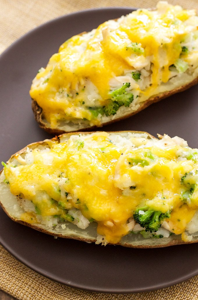 Broccoli, Cheddar, Chicken, Twice Baked Potatoes | A healthy and easy ...