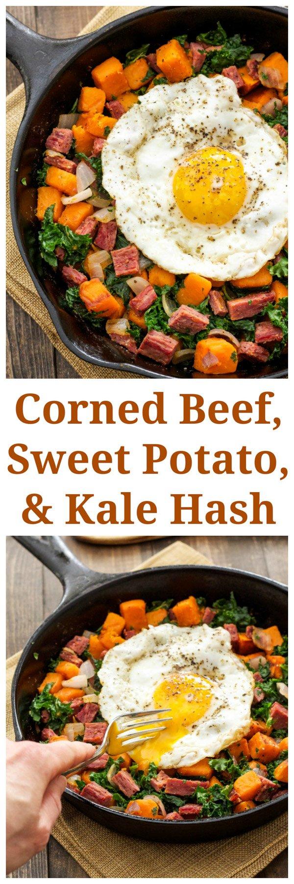 Corned Beef Sweet Potato And Kale Hash Recipe Runner