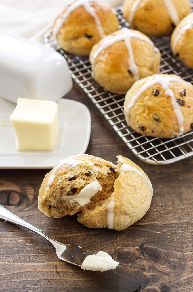 Hot Cross Buns   Buns spiced with cinnamon and full of currants are one of our Easter family traditions! via @reciperunner