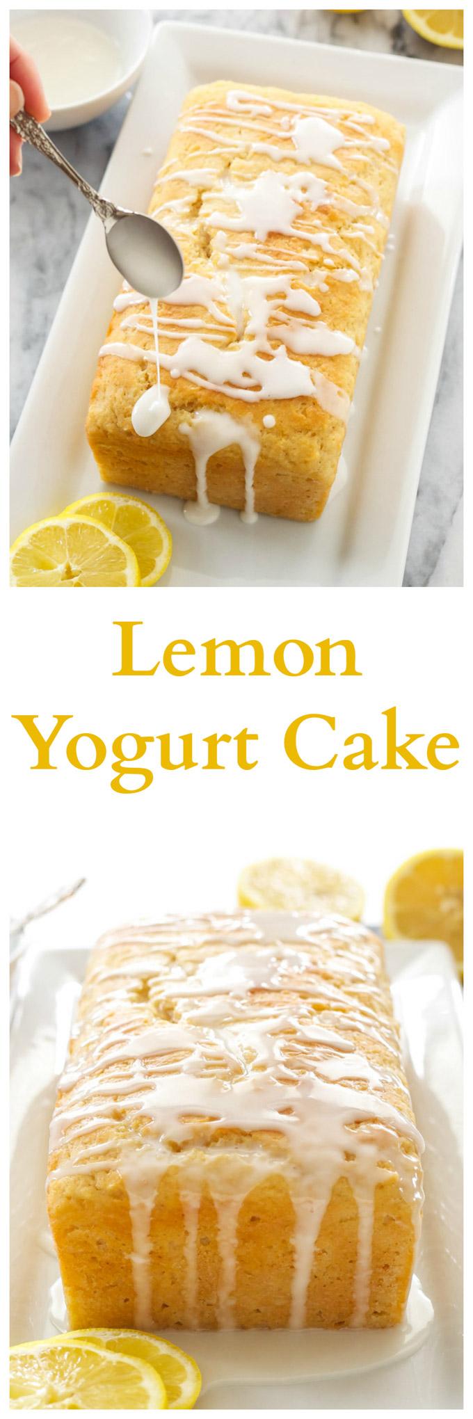 Lemon Yogurt Cake | This lemony cake is the perfect spring dessert!
