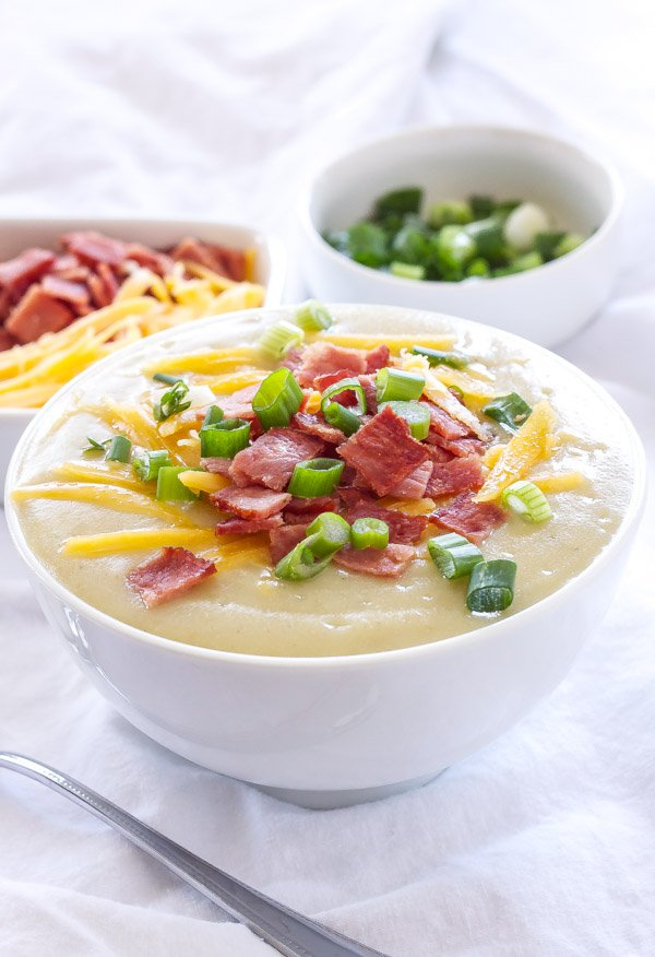 Light Loaded Potato Soup