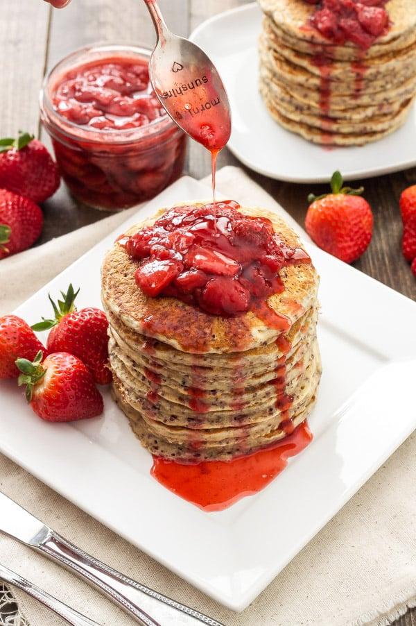 Strawberry Quinoa Pancakes Recipe Runner