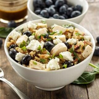 Blueberry Basil Rice Salad