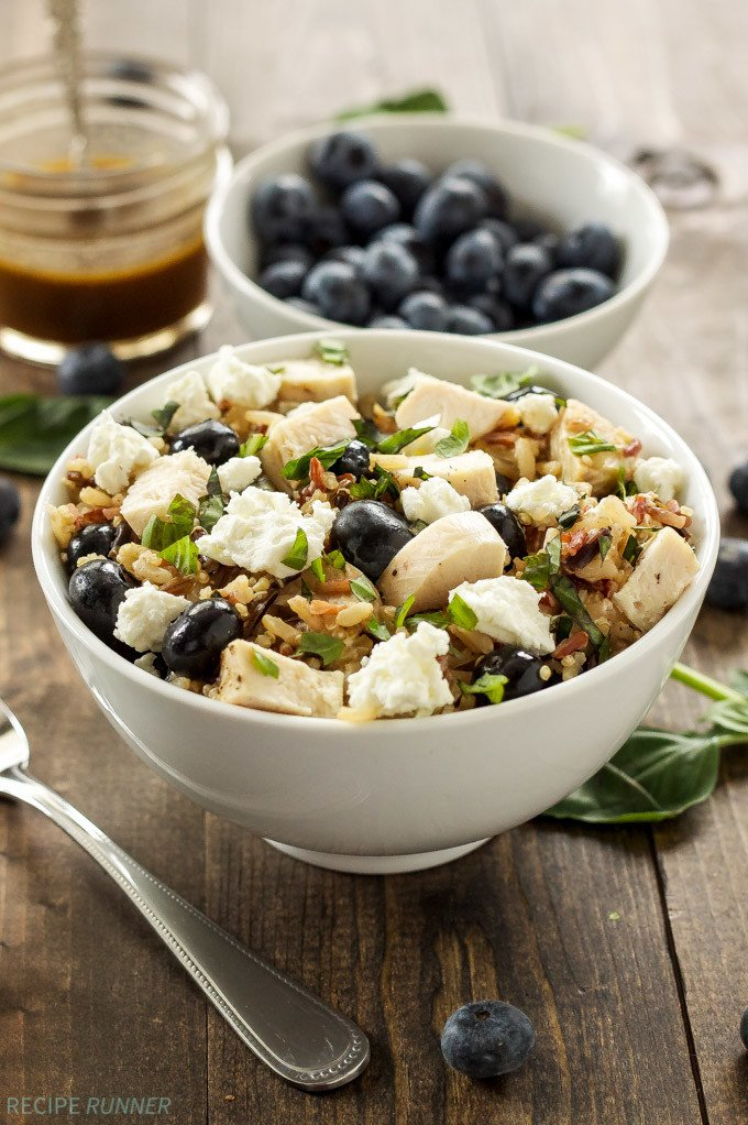 Blueberry Basil Rice Salad   One of my favorite easy to make, gluten free rice salads! #MinuteMeals #ad
