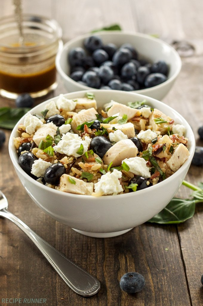 Blueberry Basil Rice Salad | One of my favorite easy to make, gluten free rice salads! #MinuteMeals #ad