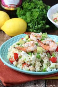 Mediterranean Shrimp Quinoa Salad