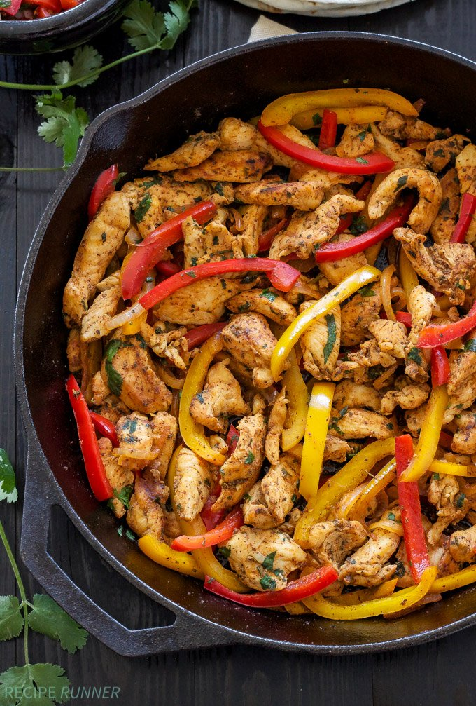 Chicken Fajitas | Quick, easy, gluten free, & paleo skillet chicken ...