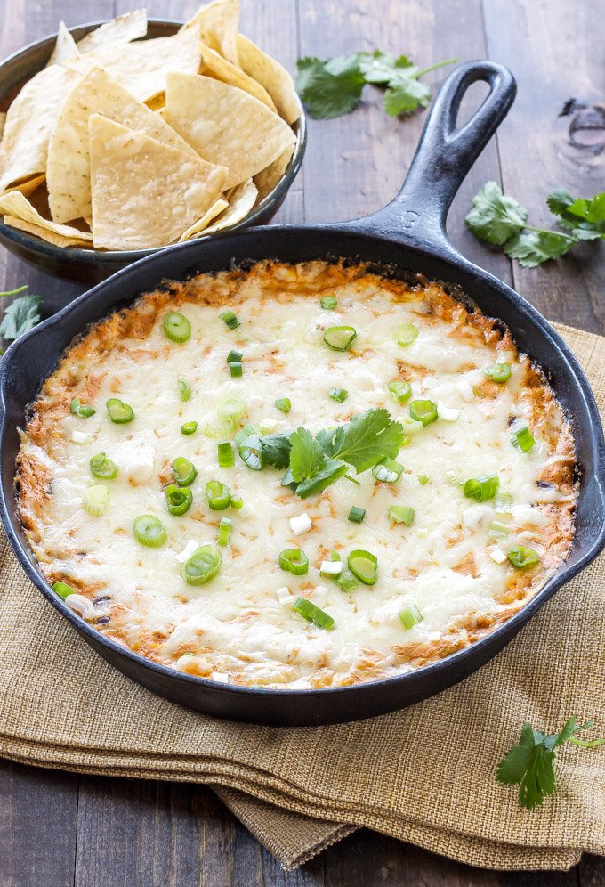 Skinny Red Chile Enchilada Dip | Based on my most popular green chile enchilada dip! One word, AMAZING! | @reciperunner