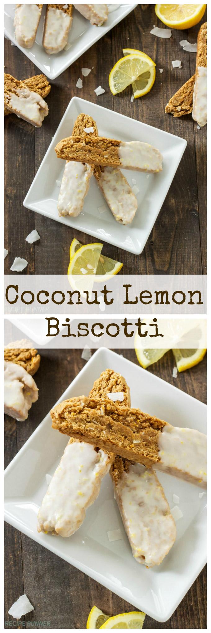 Coconut Lemon Biscotti | Crunchy biscotti full of coconut and lemon flavors!