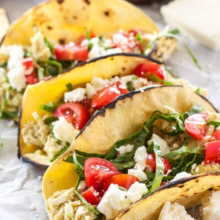 Creamy Green Chile Chicken Tacos