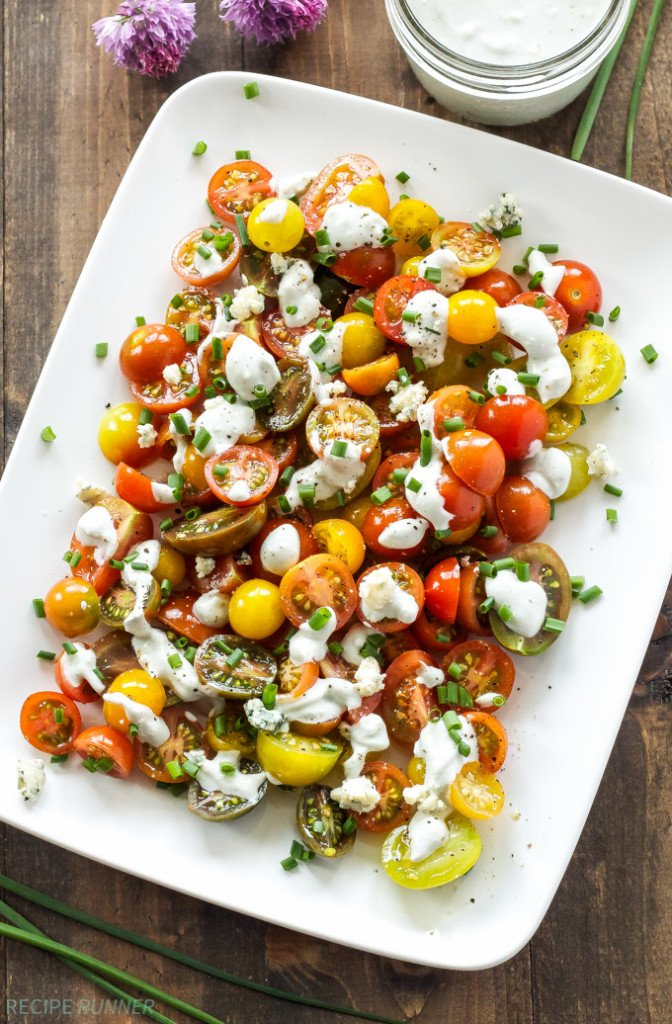 Heirloom Tomato and Blue Cheese Salad - Recipe Runner