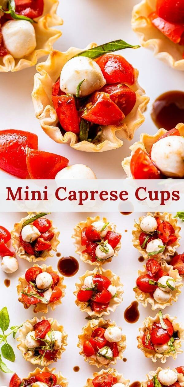 Mini Caprese Cups pinterest collage