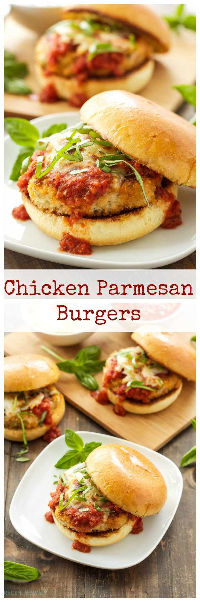 Chicken Parmesan Burgers | Classic chicken parmesan turned into a delicious burger!