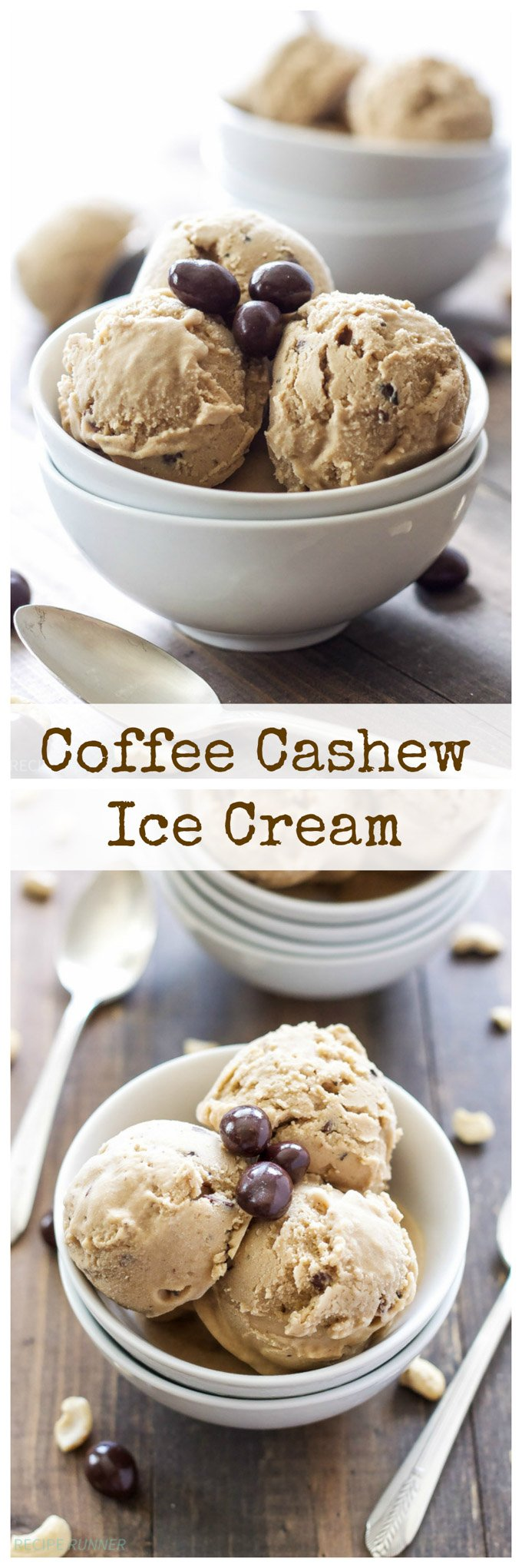 Coffee Cashew Ice Cream | You'll never suspect this Coffee Cashew Ice Cream is dairy-free and vegan! #ad #SilkCashew #VanillaCashew