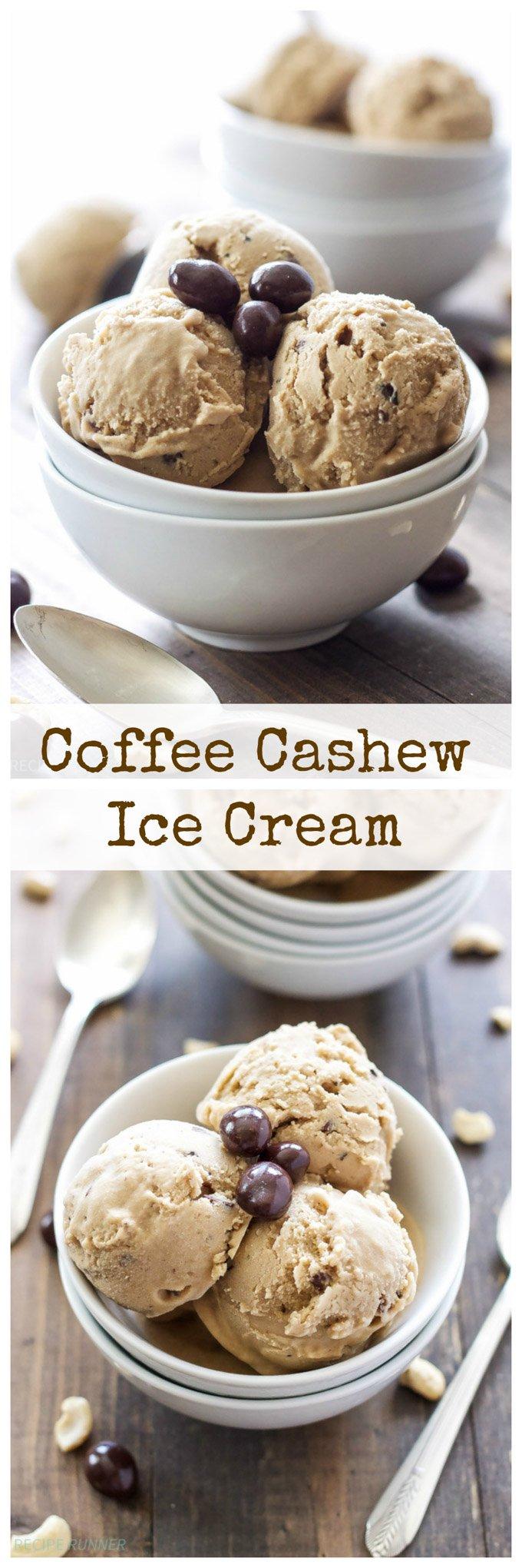 Coffee Cashew Ice Cream Recipe Runner