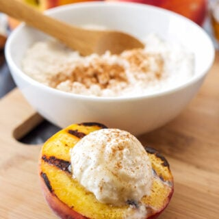Grilled Peaches with Cinnamon Honey Ricotta