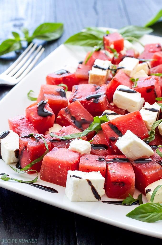 grilled watermelon feta and basil salad recipe runner. Black Bedroom Furniture Sets. Home Design Ideas