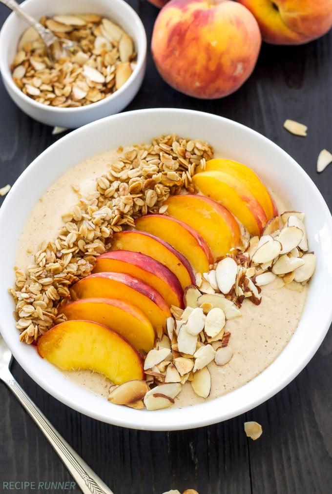 Peach Pie Smoothie Bowl Recipe Runner