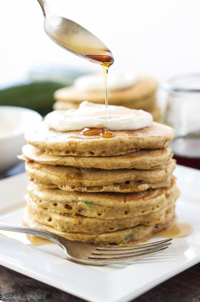 Zucchini Bread Pancakes with Maple Cream Cheese Topping - Recipe ...