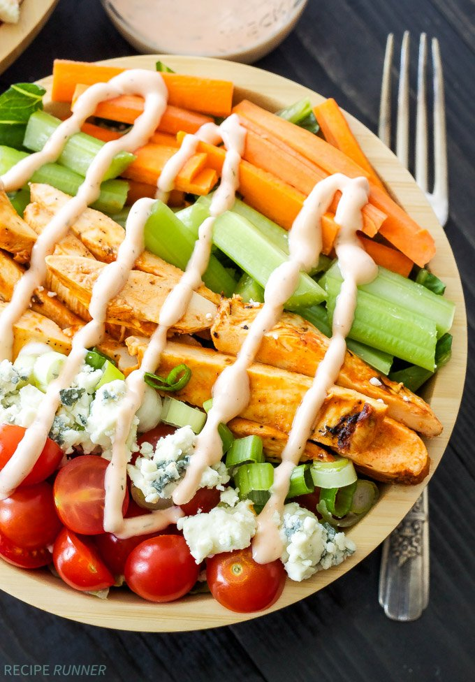 Buffalo Chicken Salad With Spicy Ranch Dressing Recipe Runner