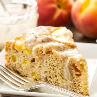 Cinnamon Peach Yogurt Cake
