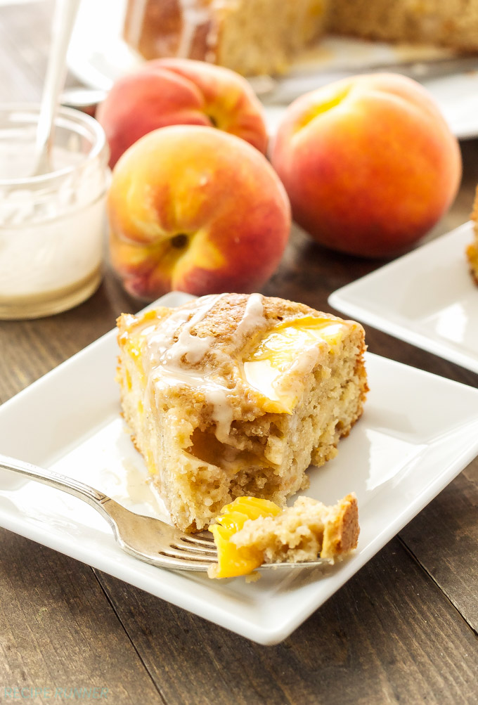 Cinnamon Peach Yogurt Cake - Recipe Runner