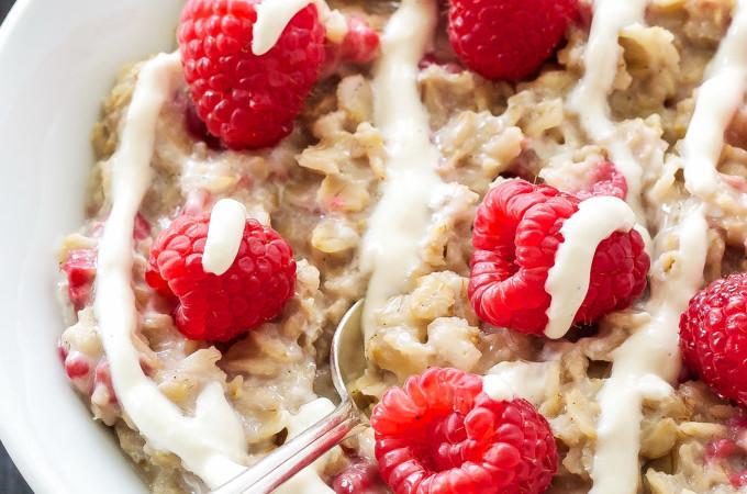 Raspberry Cheesecake Oatmeal