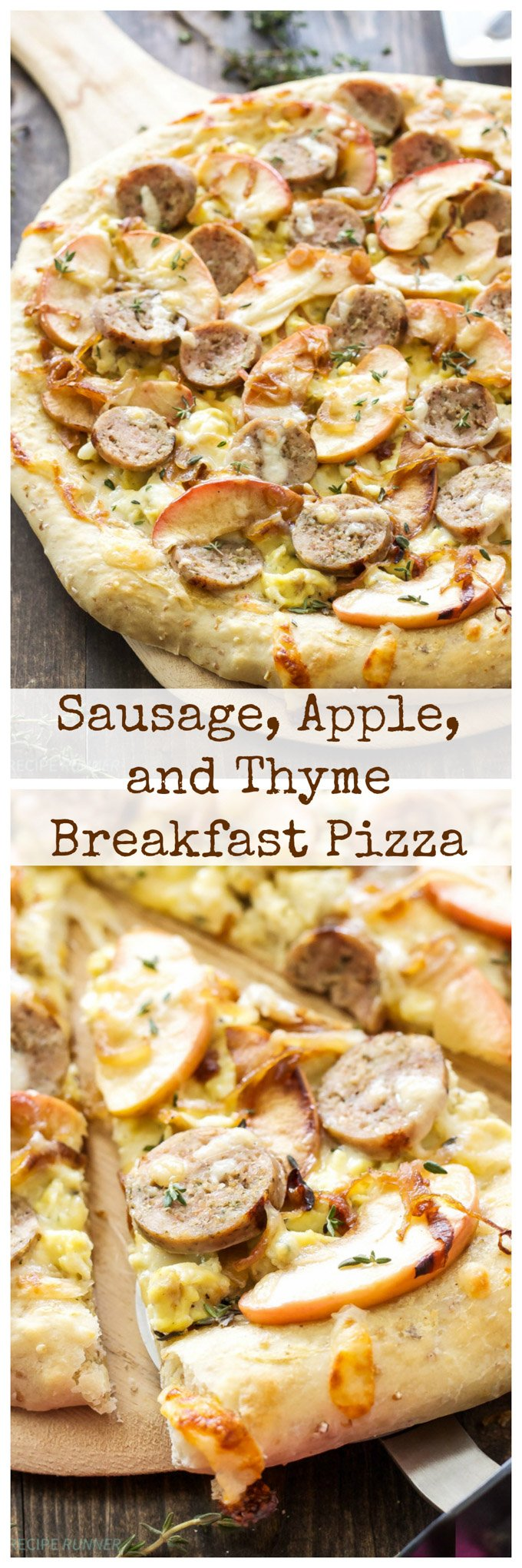 Sausage, Apple, and Thyme Breakfast Pizza | Pizza for breakfast is always a good idea!