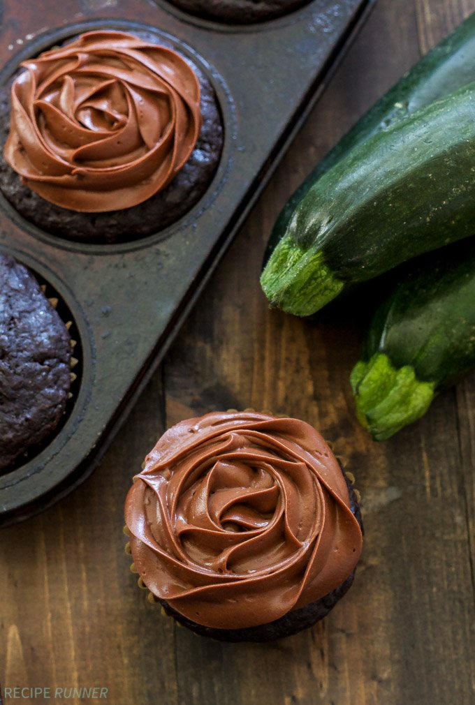 Skinny Chocolate Zucchini Cupcakes | Whole grain and full of zucchini, but no one will ever know because they taste so good!