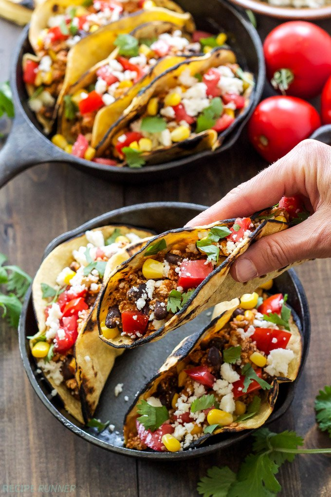Sofritas Tacos | These smokey, spicy sofritas are even better than the ones at Chipotle! Put them in tacos for a delicious vegetarian dinner!