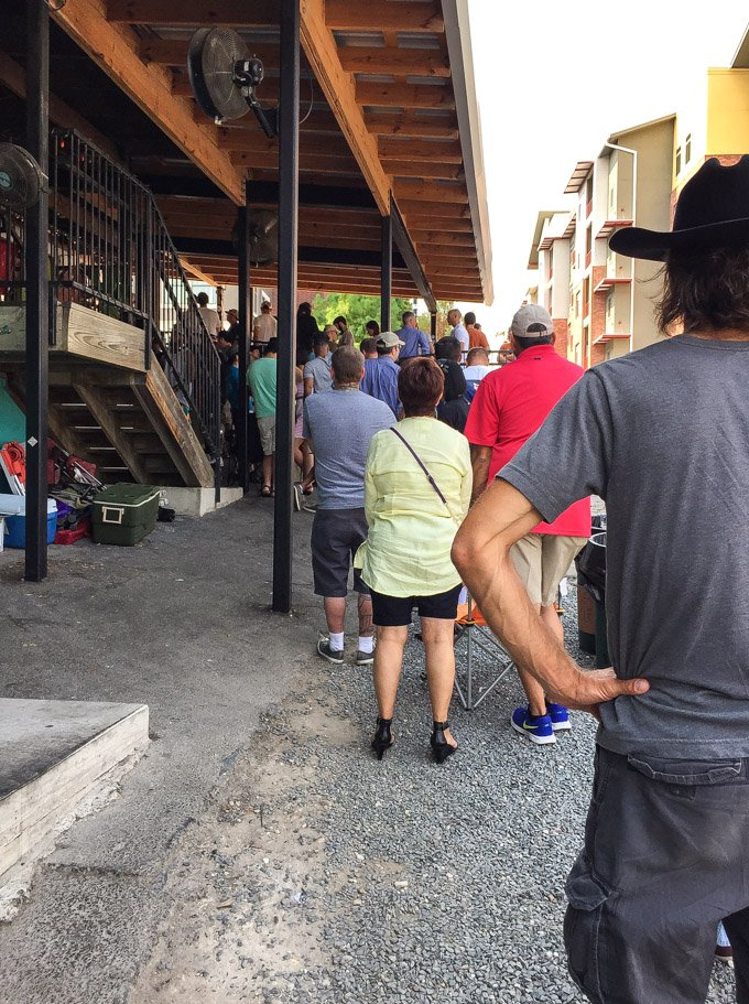 Austin, Texas: Favorite Places to Eat | Long line at Franklin Barbecue, Austin, TX
