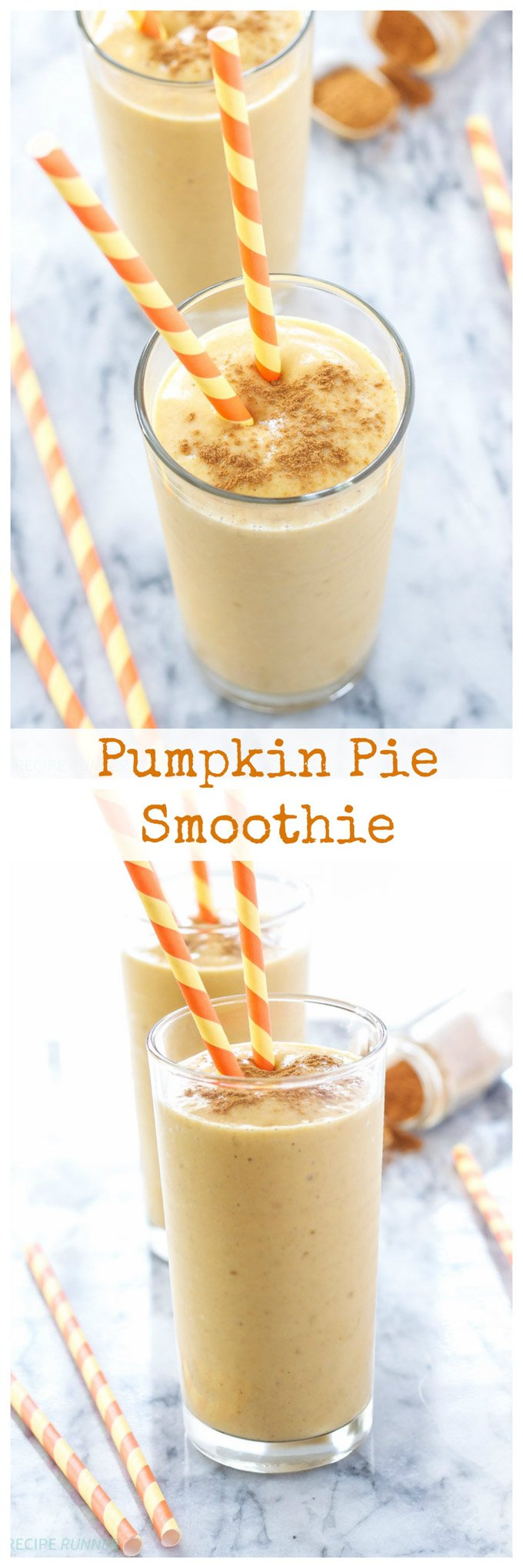 Pumpkin Pie Smoothie | Who doesn't want pumpkin pie for breakfast? Now you can have all the flavors in this healthy smoothie!
