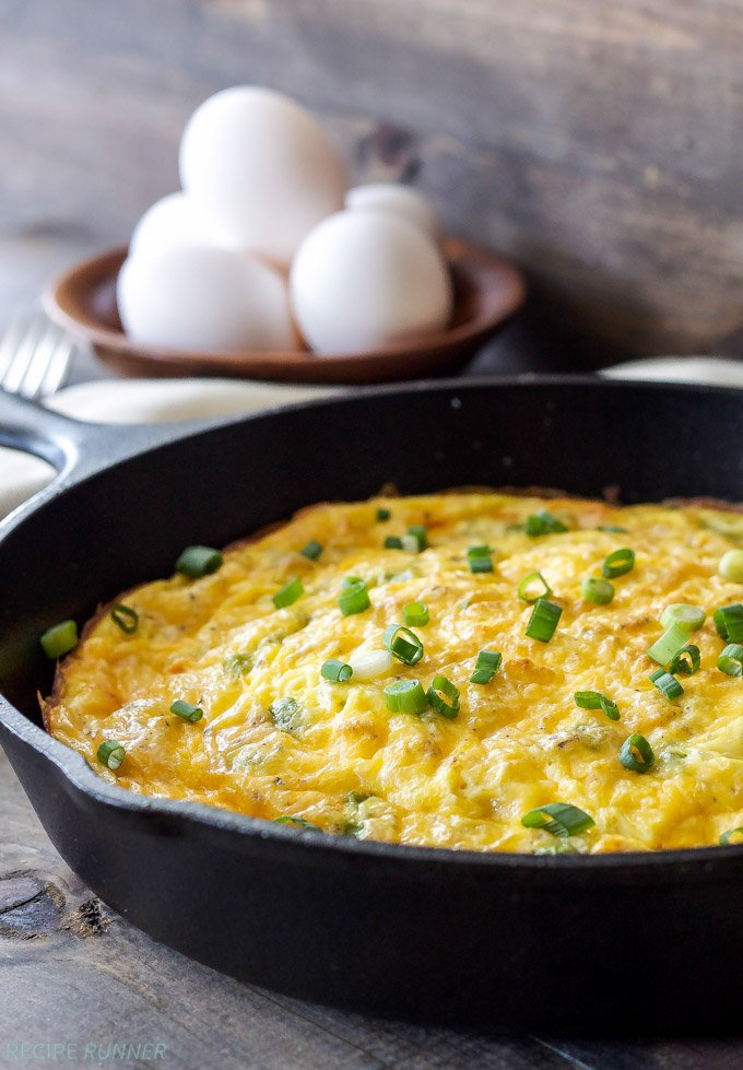 Baked Denver Omelet | This classic Denver omelet is baked in a skillet making it easy to feed the whole family!