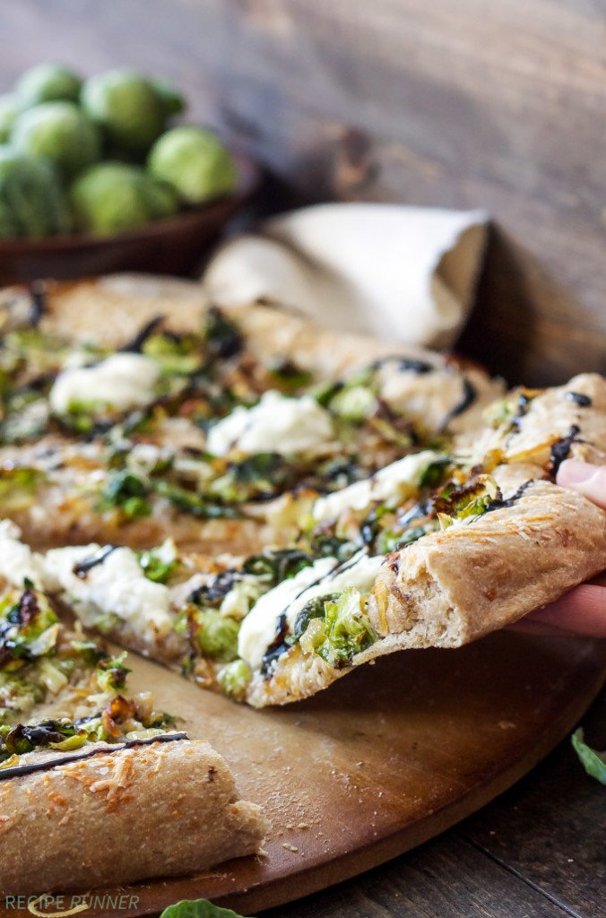 Brussels Sprouts and Ricotta Pizza | You're sure to become a Brussels sprouts lover after a slice of this pizza!