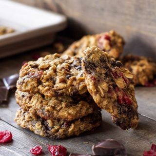 Oatmeal, Dark Chocolate and Cranberry Cookies