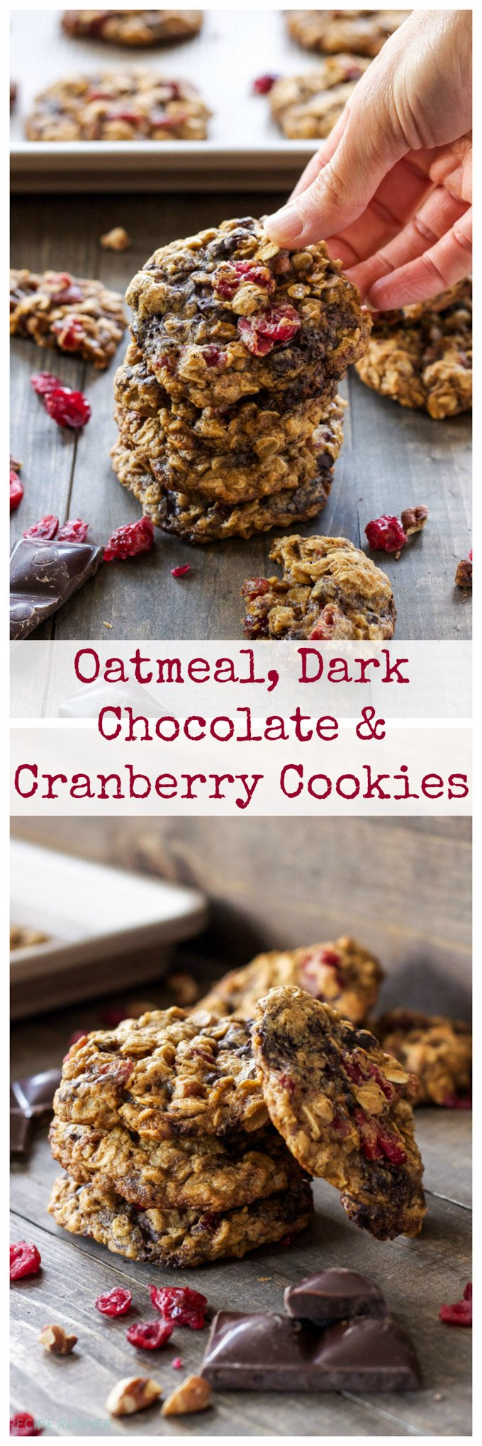 Dark Chocolate Cranberry Cookies Recipe — Dishmaps
