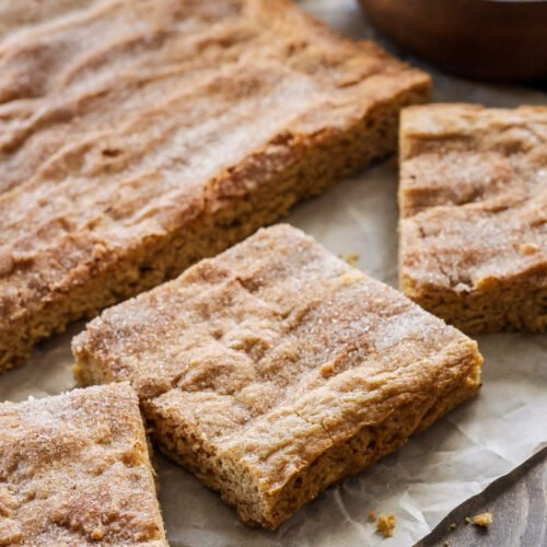 Chai Spiced Snickerdoodle Bars   Turn the flavor of your snickerdoodles up a notch by adding chai spices!