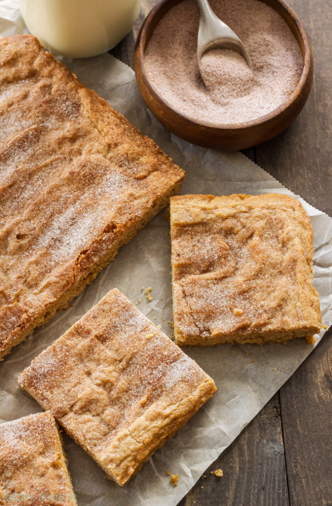Chai Spiced Snickerdoodle Bars | Turn the flavor of your snickerdoodles up a notch by adding chai spices!