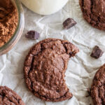 Chewy Chocolate Almond Cookies | These cookies are almost brownie like in texture and full of chocolate almond flavor!