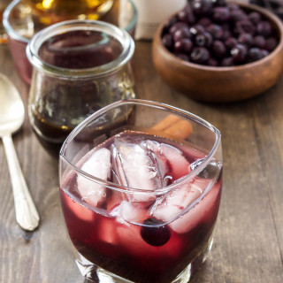 Cinnamon Blueberry Old Fashioned