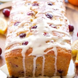 Cranberry Orange Yogurt Cake
