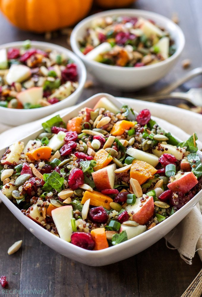Harvest Quinoa Salad | This gluten-free, vegan quinoa salad is full of ...