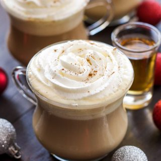 Bourbon Eggnog Latte
