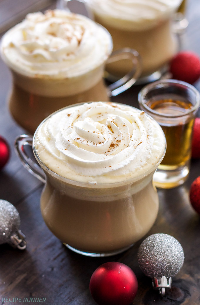 Bourbon Eggnog Latte | Cozy up this holiday season with a dairy-free Bourbon Eggnog Latte! #ad #SilkHolidays