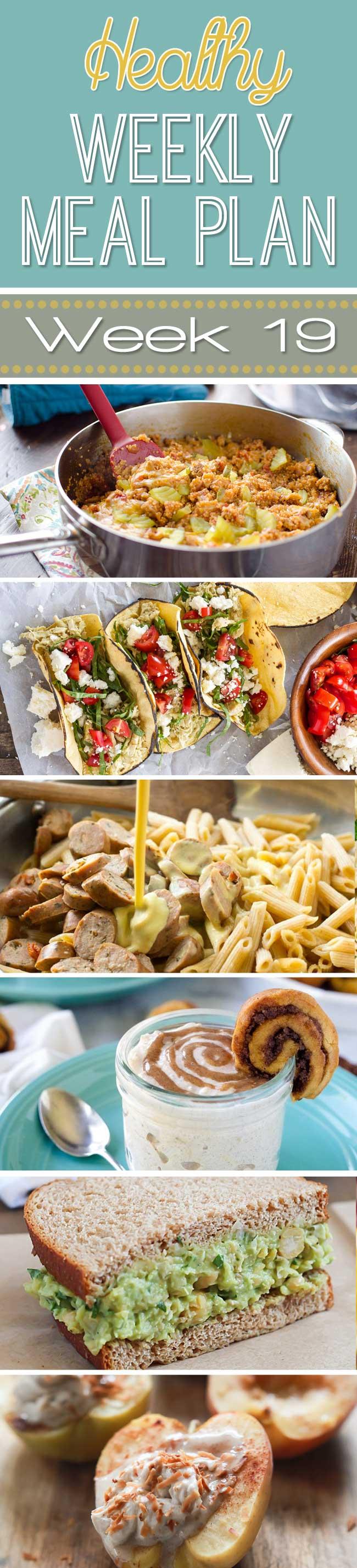 Healthy Weekly Meal Plan Week #19