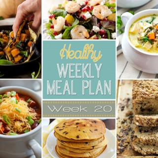 Healthy Weekly Meal Plan Week #20