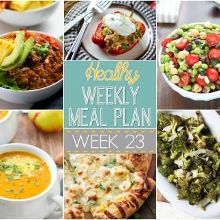 Healthy Weekly Meal Plan #23