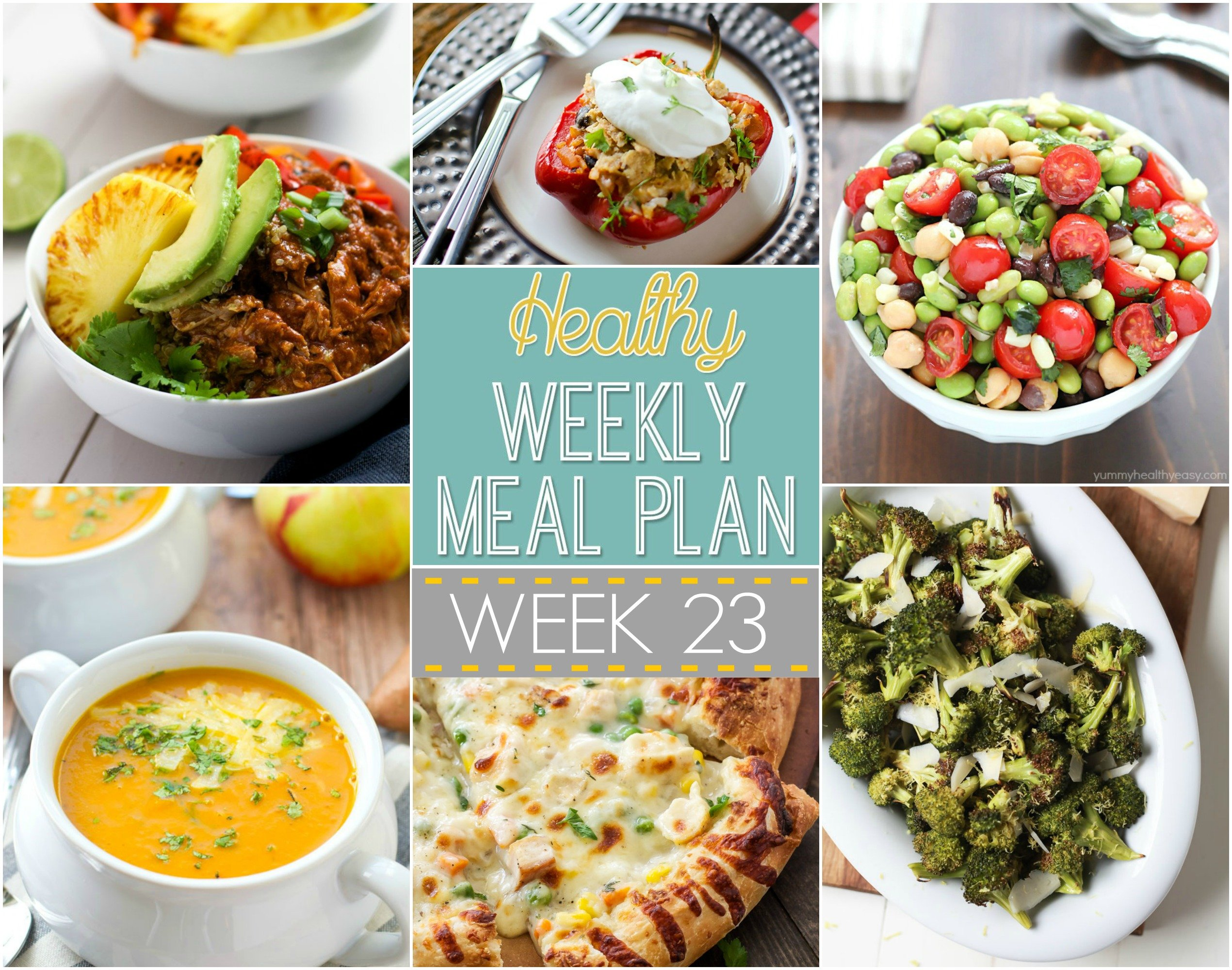 Healthy Weekly Meal Plan 23 Recipe Runner